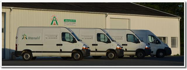 Transport et recyclage, destruction de papier en Mayenne